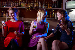 Gossip in the bar Royalty Free Stock Photos