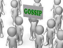 Gossip Board Character Shows Secrets And Royalty Free Stock Photography