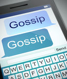 Gossip concept. Illustration depicting a phone with a gossip concept Stock Photos