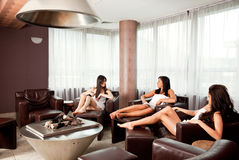 Gossip Females Relax Spa Stock Photo