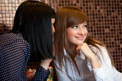 Gossip girls Stock Images