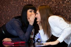 Gossip girls Royalty Free Stock Image