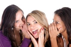 Gossip girls Stock Image