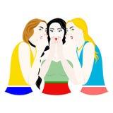 The gossip girls Stock Image
