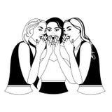 The gossip girls Royalty Free Stock Photos