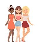 Gossip girls vector illustration. Stock Photography