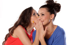 Gossip girls royalty free stock images