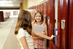 Gossip by Lockers Stock Image