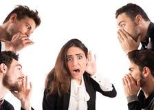 Gossip among many people Stock Image