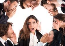 Gossip among many people Stock Photo