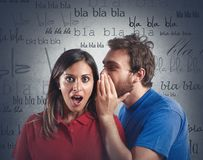 Gossip. Between a men and a woman Royalty Free Stock Photos