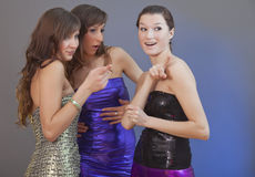 Gossip party girls Stock Photo