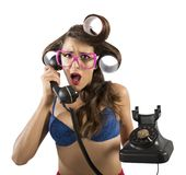 Gossip on the phone Stock Photo