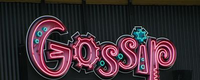 Gossip symbol displayed. Stock Images