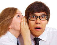 Gossip teen friends Stock Images