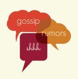 Gossip. Vector illustration of the gossip and rumors concept Stock Photo