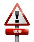 Gossip warning road sign illustration design Royalty Free Stock Photo