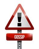 Gossip warning road sign illustration design Royalty Free Stock Photo