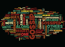 Gossip What People Say About It Text Background  Word Cloud Concept Stock Images