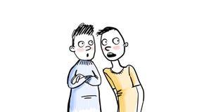 gossipers ilustração royalty free