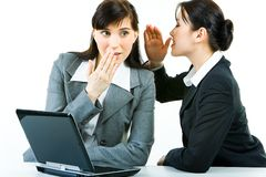 Gossiping Royalty Free Stock Photos