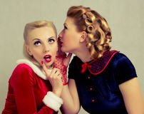 Gossiping women Royalty Free Stock Images