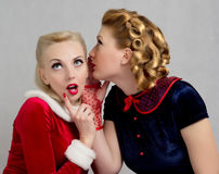 Gossiping women Stock Photos