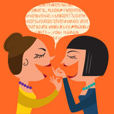 Gossiping Women Stock Image