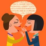 Gossiping Women Stock Image