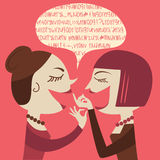 Gossiping Women Stock Images