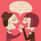 Gossiping Women Stock Images
