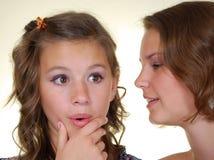 Gossips in secret Stock Images