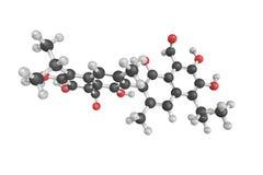 Gossypol es un fenol natural derivado de la planta de algodón Él h fotografía de archivo