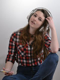 Gosta de escutar a música Imagens de Stock Royalty Free