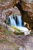 Gostilje vattenfall arkivfoton