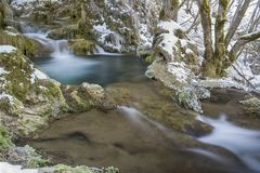 Gostilje waterfall Royalty Free Stock Images