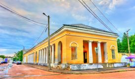 Gostiny Dvor, provincial Neoclassical trading arcades in Kostroma, Russia. Gostiny Dvor, provincial Neoclassical trading arcades in Kostroma, the Golden Ring of Royalty Free Stock Images