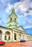 Gostiny Dvor, provincial Neoclassical trading arcades in Kostroma, Russia. Gostiny Dvor, provincial Neoclassical trading arcades in Kostroma, the Golden Ring of Royalty Free Stock Image