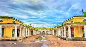 Gostiny Dvor, provincial Neoclassical trading arcades in Kostroma, Russia. Gostiny Dvor, provincial Neoclassical trading arcades in Kostroma, the Golden Ring of Stock Photos