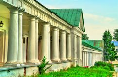 Gostiny Dvor, trading arcades in the city center of Suzdal, Russia. Gostiny Dvor, trading arcades in the city center of Suzdal, the Golden Ring of Russia Stock Images