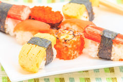 Gosto da culinária do sushi bom Fotografia de Stock