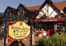 Gosto de vinho, Solvang, Califórnia Foto de Stock Royalty Free