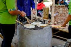 Gosto doce do petisco do biscoito do papagaio de Tailândia Cozinhado grelhando, Imagens de Stock