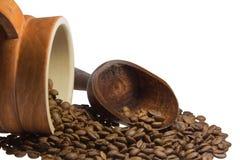 Gosto insaciável do café a começar o dia Foto de Stock