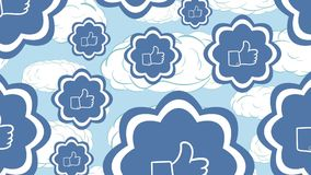 Gostos e nuvens do azul ilustração stock
