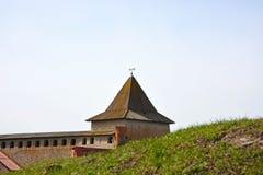 Gosudareva tower of the fortress at Shlisselburg city Royalty Free Stock Photo
