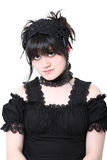 Gosurori Gothic Lolita Japanese Fashion. American teen girl wearing authentic Japanese style Gousurori or Gothic Lolita Fashion. Clipping path royalty free stock photography