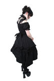 Gosurori Gothic Lolita Japanese Fashion. American teen girl wearing authentic Japanese style Gousurori or Gothic Lolita Fashion. Clipping path royalty free stock photos