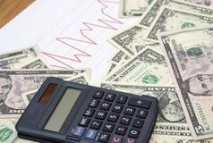 Gotówka z kalkulatorem Obraz Stock