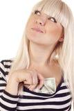 gotówkowa kobieta Zdjęcie Stock